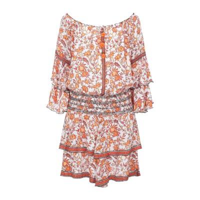 POUPETTE ST BARTH ミニワンピース&ドレス オレンジ S レーヨン 100% ミニワンピース&ドレス