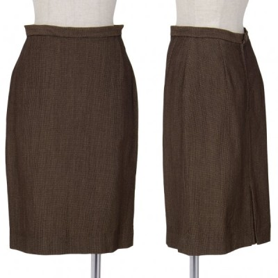 ジャンポールゴルチエ クラシックJean Paul GAULTIER CLASSIQUE 混紡台形スカート 茶40 【レディース】