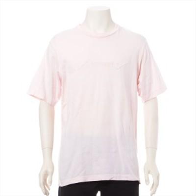シュプリーム コットン Tシャツ M レディース ピンク  ロゴ刺繍