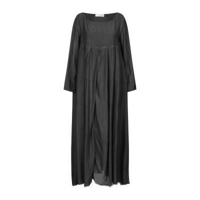 UN-NAMABLE ロングワンピース&ドレス スチールグレー 40 レーヨン 83% / シルク 17% ロングワンピース&ドレス