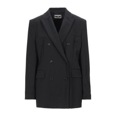 ハイケ HACHE テーラードジャケット ブラック 44 ポリエステル 53% / バージンウール 43% / ポリウレタン 4% テーラードジャケ