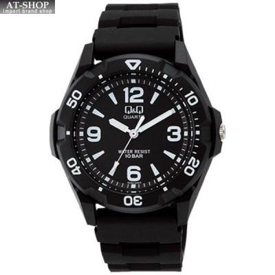 CITIZEN シチズン 腕時計 Q&Q 10気圧防水 メンズ スポーツウォッチ VR44-001 ブラック