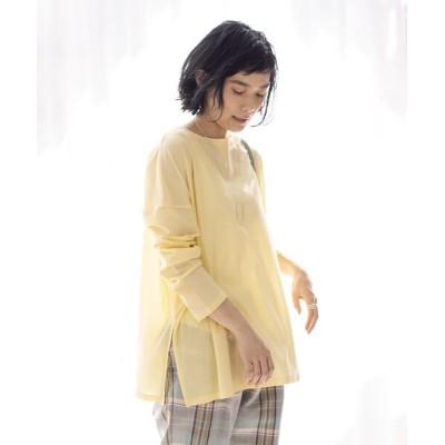 qualite/カリテ 【WEB・一部店舗限定】シアーロングTシャツ イエロー F
