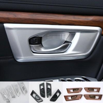 ホンダ 新型CR-V CRV RT系 RW系 パーツ アクセサリー RT5 RT6 RW1 RW2 ドア インテリアパネル ABSメッキガーニッシュ ドアハンドル ドアノブ 内装 傷予防 4P