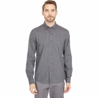 マイケル コース Michael Kors メンズ シャツ トップス Long Sleeve Button-Down Windowpane Shirt Charcoal Melange