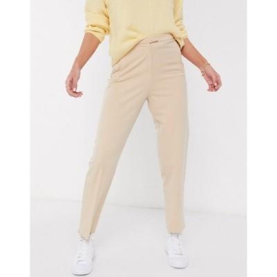ミスセルフフリッジ レディース カジュアルパンツ ボトムス Miss Selfridge cigarette pants in camel