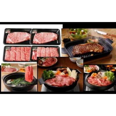 鹿児島黒牛サーロインステーキ&すきやき食べ比べセット1㎏(E-301)