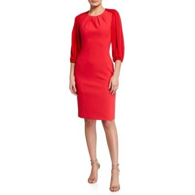 コビーハルペリン レディース ワンピース トップス Wendi 3/4-Sleeve Cady Sheath Dress