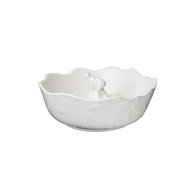 サンアート かわいい食器 「 北極 」 しろくま そうめん鉢 中鉢 直径20cm 白 SAN2074