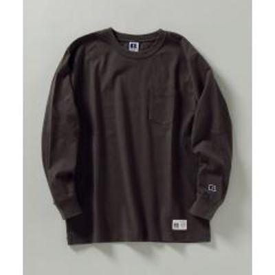 シップス【SHIPS別注】RUSSELL ATHLETIC: ベーシック ポケット Tシャツ (ロンT)【お取り寄せ商品】