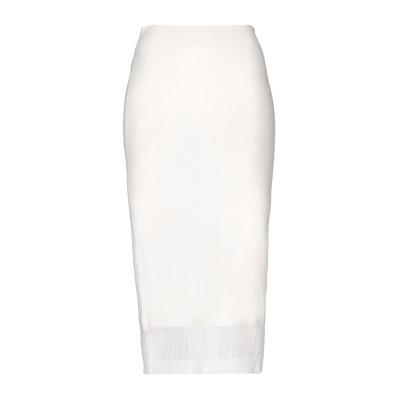VICTORIA BECKHAM 7分丈スカート アイボリー 2 カシミヤ 89% / シルク 5% / コットン 4% / ナイロン 2% 7分丈