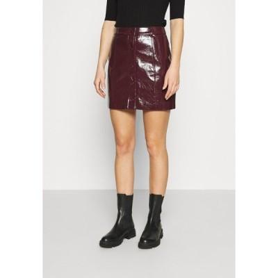 グラマラス スカート レディース ボトムス SKIRT - A-line skirt - burgundy