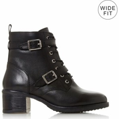デューン Dune London メンズ ブーツ ショートブーツ シューズ・靴 Wf Paxtone Wide Fit Buckle Detail Ankle Boots Black