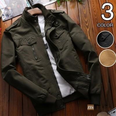 ミリタリージャケット M65 ジャケット メンズ フライトジャケット ブルゾン M-65 アウトドア 刺繍 アウター 秋冬