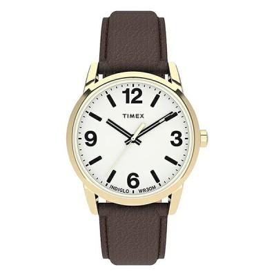 日本未発売 TIMEX タイメックス イージーリーダー ボールド 38MM TW2U71500 腕時計 時計 ブランド メンズ レディース アナログ ホワイト 白 ブラウン 茶 レザ