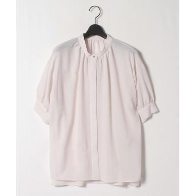 【ロートレ・アモン】 シワになりにくい クリスピーボイルシャツ レディース グレー 38(2) LAUTREAMONT