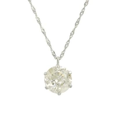 【ジュエリーセレクション】 天然ダイヤモンド 1ctアップ 6本爪 プラチナネックレス レディース PT F JEWELRY SELECTION