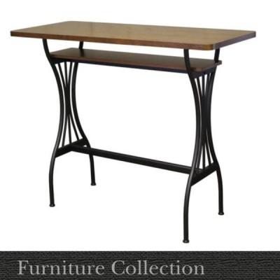 ハイテーブル 天然木 カウンターテーブル ミーティングテーブル(幅120cm 高さ97cm)AT-125CT