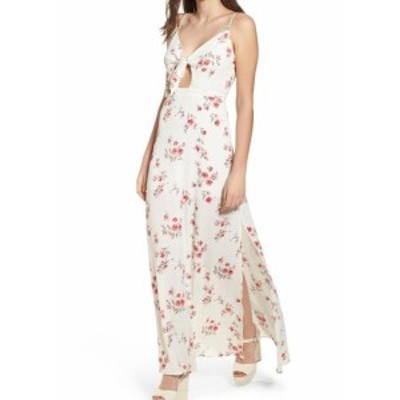 4SI3NNA フォーシースリーエンエンエイ? ファッション ドレス 4Si3nna NEW White Ivory Womens Size Medium M Cutout Floral Maxi Dress