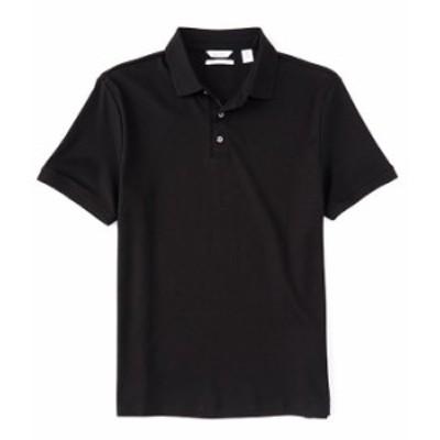 カルバンクライン メンズ シャツ トップス Liquid Touch Short-Sleeve Polo Shirt Black