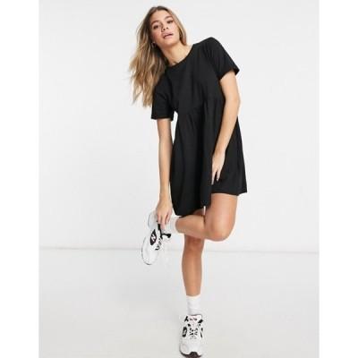 ブレーブソウル レディース ワンピース トップス Brave Soul lara smock dress in black
