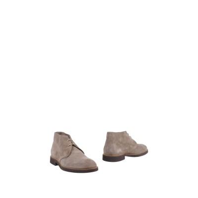 デュカルス DOUCAL'S ショートブーツ グレー 40.5 革 ショートブーツ