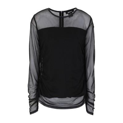 DKNY T シャツ ブラック XS ポリエステル 85% / ポリウレタン 15% T シャツ