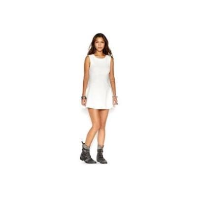 フリーピープル ドレス ワンピース フォーマル free People アイボリー ノースリーブ クルーネック A Line ドレス サイズ L 118LAFO