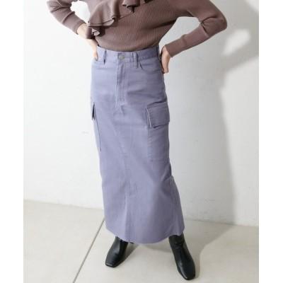 Discoat / <オソロ>USコットンデニムカーゴナロースカート WOMEN スカート > デニムスカート