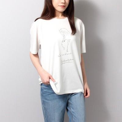 サンローラン SAINT LAURENT Tシャツ レディース T-SHIRT COL ROND 646379-Y36AL 送料無料 07SS-15