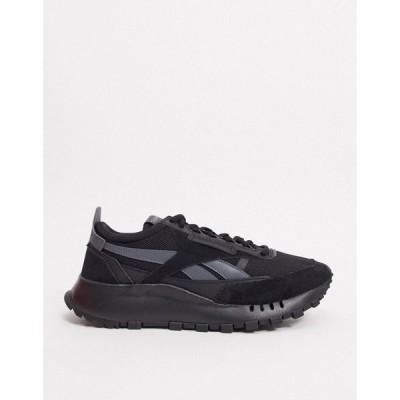 リーボック Reebok メンズ スニーカー シューズ・靴 Classic Legacy Vintage Trainers In Triple Black ブラック