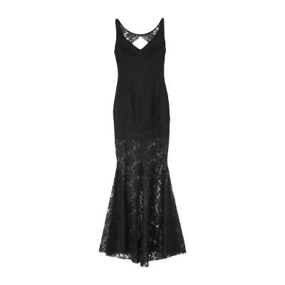 TRY ME ロングワンピース&ドレス ブラック 40 ポリエステル 100% ロングワンピース&ドレス