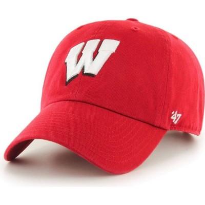 フォーティセブン 47 メンズ キャップ 帽子 ' Wisconsin Badgers Clean Up Red Adjustable Hat