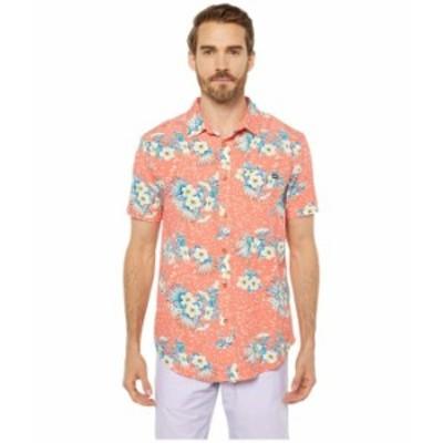 ビラボン メンズ シャツ トップス Sundays Floral Short Sleeve Coral