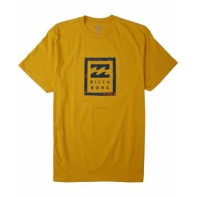 ビラボン メンズ Tシャツ トップス Men's United stacked T-shirt Mustard