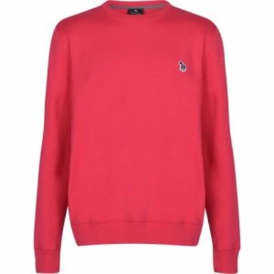 ポールスミス PS by Paul Smith メンズ スウェット・トレーナー トップス Zebra Crew Sweatshirt Pink
