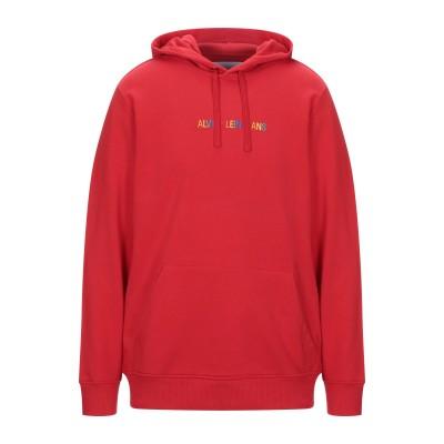 YOOX - CALVIN KLEIN JEANS スウェットシャツ レッド L コットン 100% スウェットシャツ
