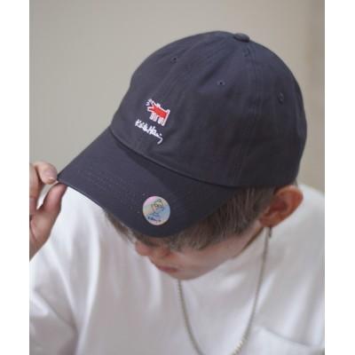 Port / 【 Keith Haring / キースヘリング 】 刺繍 フロッキー プリント ローキャップ MEN 帽子 > キャップ