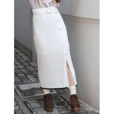 【ダズリン/dazzlin】 サッシュベルトニットロングスカート