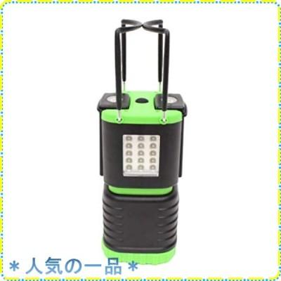 【HIRO】2Way LEDランタンライト着脱式ハンディライト2つ グリーン