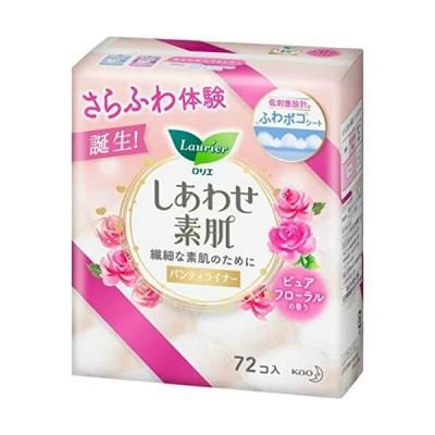 ロリエ しあわせ素肌 パンティライナー ピュアフローラルの香り 72個入