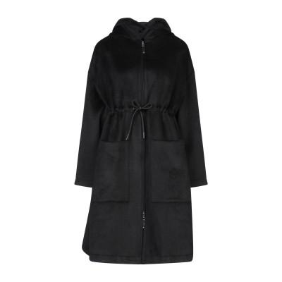ブルーガール ブルマリン BLUGIRL BLUMARINE コート ブラック 44 ポリエステル 75% / ウール 25% コート