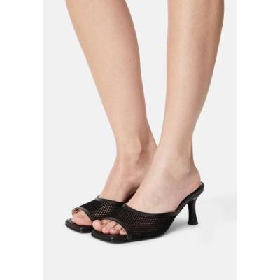 レディース 靴 シューズ SLFASHLEY MULE - Heeled mules - black