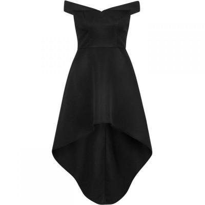 チチ Chi Chi レディース パーティードレス ワンピース・ドレス Bardot Dip Hem Dress Black