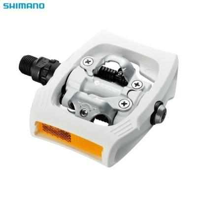 Shimano/シマノ PD-T400 SPD ホワイト クリッカー リフレクター付  ペダル