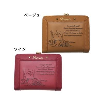 二つ折り財布 ピーナッツ ファッション雑貨 スヌーピー キャラクター グッズ ショートウォレット