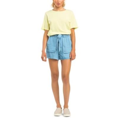ブラック テープ カットソー トップス レディース Relaxed-Fit T-Shirt Sunshine