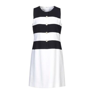 EDWARD ACHOUR ミニワンピース&ドレス ホワイト 42 コットン 57% / レーヨン 25% / ナイロン 18% ミニワンピース&ド