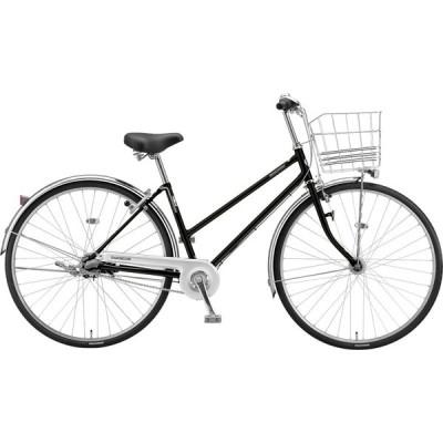 送料無料 ブリヂストン シティサイクル自転車 ロングティーン 変速なしモデル L60S1 P.Xクリスタルブラック