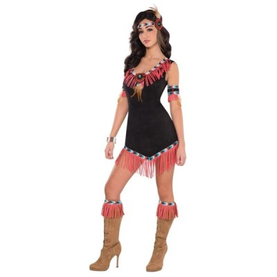 インディアン コスチューム レディース 大人 ライジングサンプリンセス ネイティブアメリカン コスプレ 仮装 衣装